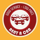 Rent a car design, vector illustration. — Stok Vektör