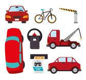 Transport design, vector illustration. — Stock Vector