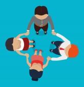 Teamwork design, vector illustration. — Vettoriale Stock