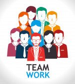 Teamwork design, vector illustration. — Stock Vector