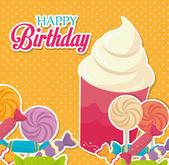 Birthday design, vector illustration. — ストックベクタ