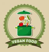 Vegan food — Stock Vector