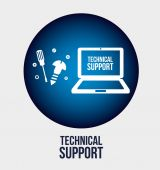 Computer support  — Stock Vector