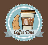 Coffee time  — Stock Vector