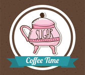 Sugar bowl  — Stock Vector