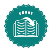 Ebook icon  — Stock Vector