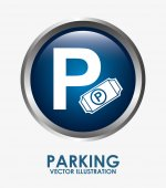 Parking sign — Stock Vector