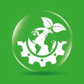 Design amichevole di eco — Vettoriale Stock