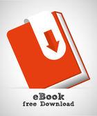 Ebook icon design — Stok Vektör
