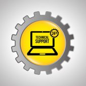 Computerontwerp ondersteuning — Stockvector