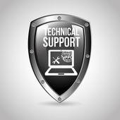 Dator support design — Stockvektor
