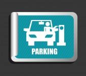 Parking sign design — Cтоковый вектор