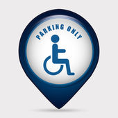 Parking sign design — Stok Vektör