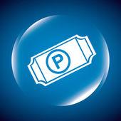 Parking sign design — Vettoriale Stock