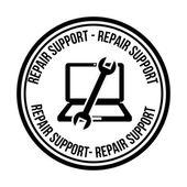 Computer support design — Stock Vector