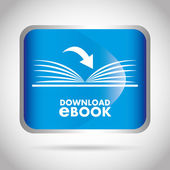 E-book concept design — Stockvektor