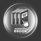 E-book concept design — Vettoriale Stock