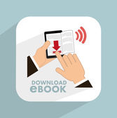 E-book concept design — Vetor de Stock