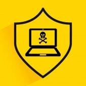 Computer virus design — Stock vektor