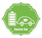 Electric car design — Stok Vektör