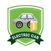Electric car design — Cтоковый вектор