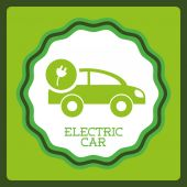 Electric car design — Stock Vector