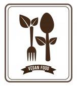 Vegan gıda tasarım — Stok Vektör