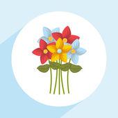 Flowers bouquet design — 图库矢量图片