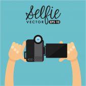 Photo selfie — Stock Vector