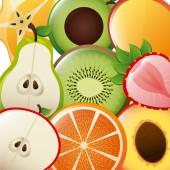 Healthy fruits — Stock Vector