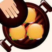 Barbecue  — Stock Vector