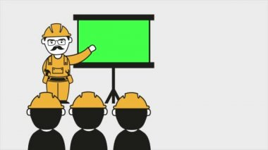 Industrial education Video animation — Stock Video
