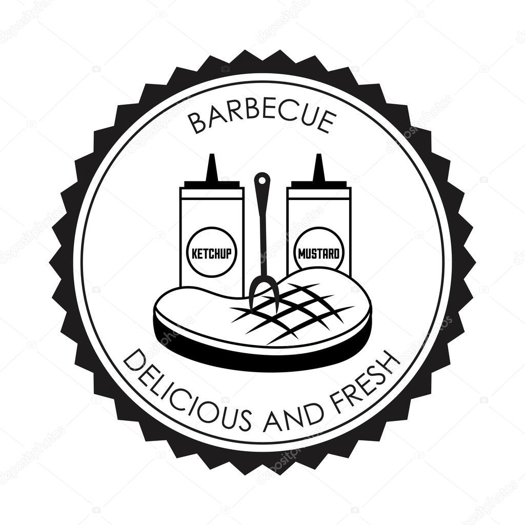 烧烤设计, 矢量图 eps10 图形– 图库插图