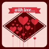 Αγάπη καρτ ποστάλ — Διανυσματικό Αρχείο