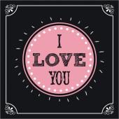 Cartão postal de amor — Vetor de Stock