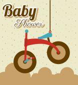Baby shower design, vector illustration. — Stock Vector