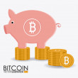 Bitcoin design, vector illustration. — Stock Vector #66844365