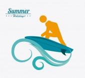 Summer design, vector illustration. — Stock Vector