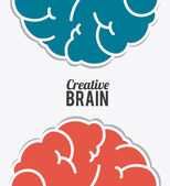 Brain design, vector illustration. — Stock Vector