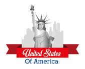 USA design, vector illustration. — Stock Vector