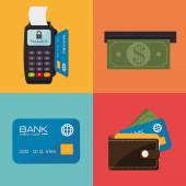 Payment design, vector illustration. — Vettoriale Stock