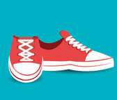 Shoes design, vector illustration. — Stockvector