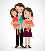 Family design, vector illustration. — Stok Vektör
