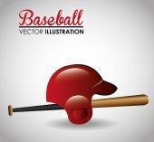 Beyzbol tasarlamak. — Stok Vektör