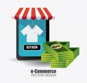 E-commerce design illustration. — Stock Vector
