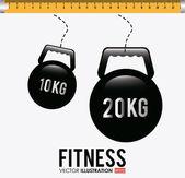Fitness design illustration. — Stock Vector