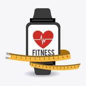 Fitness ontwerp illustratie. — Stockvector