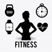 Fitness design illustration. — Vector de stock