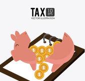 Taxes design illustration. — Stock Vector