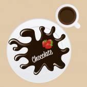 Delicious chocolate  — Stock Vector